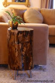 Tree Stump Nightstand Make A Tree Stump Table Upcycle That