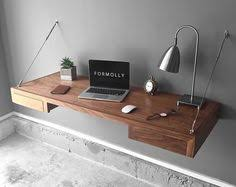 floating desk wall mounted desk walnut by formollydesks on etsy