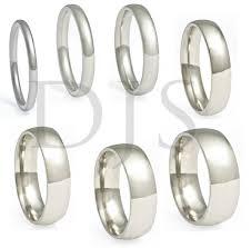 s plain wedding bands 316l stainless steel ring plain wedding band ebay