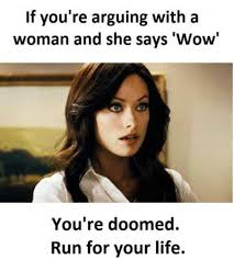 if a woman says wow funny meme pmslweb