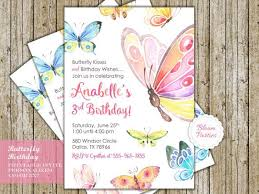 butterfly birthday invitation butterfly kisses and birthday wishes