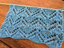 zig zag knitting stitch pattern zig zag eyelet free knitting stitch knitting bee