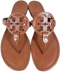 tory burch cognac miller sandals size us 8 5 regular m b tradesy