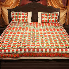 Cotton Single Bed Sheets Online India 100 Cotton Rajasthani Bedsheets Pack Of 4 By Incredible Home