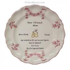 cadeaux anniversaire de mariage assiette décorative en faience pour souvenir et anniversaire de