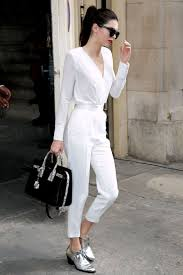 all white jumpsuits how to wear jumpsuit 10 ways to wear the work jumpsuits