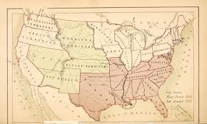 United States America Map by The Family History Guide