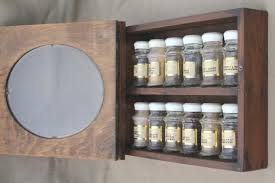 Wall Mount Spice Cabinet With Doors Spice Set W Glass Jars For Spices Wall Mount Rack Spice Cabinet