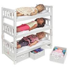 Badger Basket  Convertible Doll Bunk Bed With Storage Baskets - Dolls bunk bed