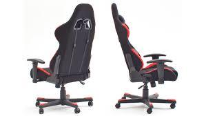 Schreibtischstuhl Bürostuhl Dx Racer 1 Stoff Schwarz Rot Game Chair