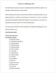 marketing plan outline template u2013 6 free word excel pdf format