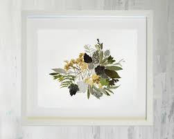 Living Room Art Sets Dried Flower Print Picture Herbarium Botanical Set Pressed