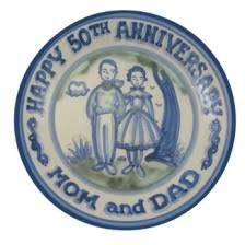 personalized anniversary plate hadley pottery s personalized anniversary plate 100 00 happily