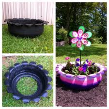 Flower Garden App by Recycled Tire To Flower Bed For Our Daughter Garden Diy