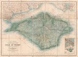 Stanford Maps File 1879 Stanford Pocket Map Of The Isle Of Wight England