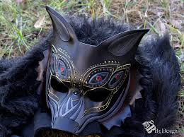 wolf masquerade mask age inspired dread wolf leather mask by b3designsllc on