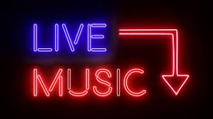 live neon sign lights logo text glowing multicolor 4k motion