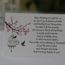 most unique wedding gifts blossom wedding gift poem cards money gift honeymoon