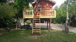 treehouse designs for kids tree house for kids with pipe slide