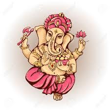 Ganesh Puja Invitation Card Vector Isolated Image Of Hindu Lord Ganesh Ganesh Puja Ganesh