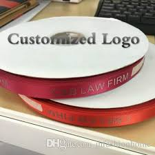 custom ribbon with logo custom logo diy satin ribbon belt flat font 3d printing iron gold
