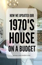 livelovediy how we updated our 1970 u0027s house on a budget and the