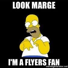 Flyers Meme - look marge i m a flyers fan homer simpson retarded meme generator