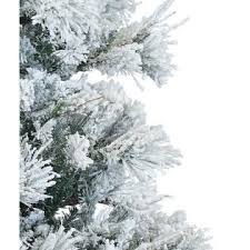 fraser hill farm 12 ft flocked snowy pine tree