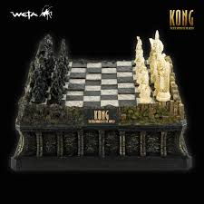 king kong movie deluxe sculpted chess set weta rare limited