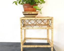 Wicker Accent Table Wicker Table Etsy