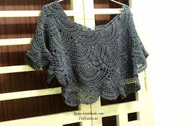 Handmade Poncho - crochet so skirt and poncho 2 in 1 make handmade crochet