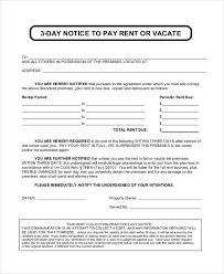 sample eviction notice forms 7 free documents in pdf doc