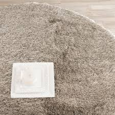 safavieh handmade silken glam paris shag sable brown polyester rug