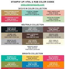 12 best stampin up rgb charts images on pinterest color
