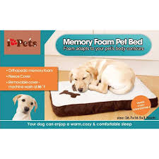 ipets orthopedic memory foam pet bed with removable fleece cover