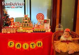 rumbutter sweet corner u0026 dessert table faith u0027s 1st birthday