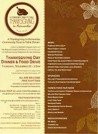 thanksgiving dinner menu template farmers markets nofa ny catskill hudson region