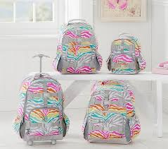 mackenzie rainbow zebra backpack pottery barn kids