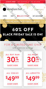 sunglass hut black friday 2017 sale deals cyber monday 2017
