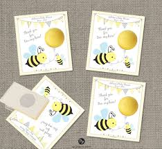 bumble bee baby shower gift tags for eos lip balm bee honey