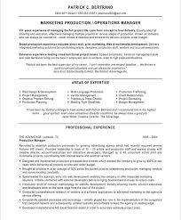 Sample Operations Manager Resume by Marketing Production Manager Marketing Resume Samples