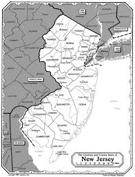 State Of New Jersey Map by All About Genealogy And Family History Map Of New Jersey