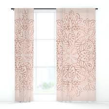 gold and pink curtains mandala rose gold pink shimmer on blush
