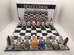 Nice Chess Sets by Space Chess Big League Promotions 2001 Edition Chess Set Very Nice