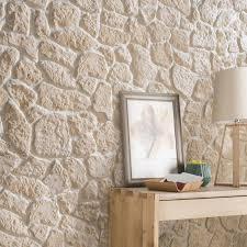 bloc de pierre pour mur plaquette de parement plâtre crème luberon leroy merlin