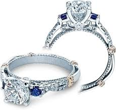 verragio wedding rings verragio and sapphire twist engagement ring cl dl129r