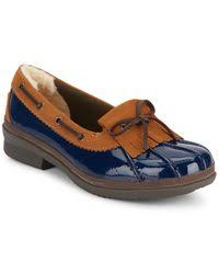 ugg haylie sale ugg haylie patent leather loafers in blue lyst