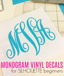 monogram stickers how to cut a vinyl monogram with silhouette cameo silhouette school