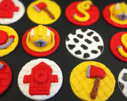 firefighter cupcake toppers firefighter cupcake etsy