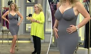 model wears very revealing petticoat on shopping channel and